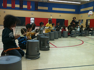 Bucket drumming summer camp